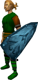 Rune kiteshield equipped.png: Rune kiteshield equipped by a player