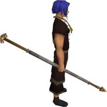 Bronze spear equipped.png: Bronze spear equipped by a player