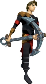 Barrelchest anchor equipped.png: Barrelchest anchor equipped by a player