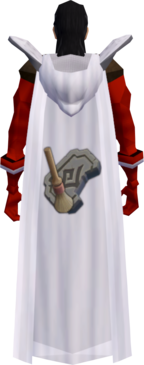 Retro hooded archaeology cape equipped.png: Hooded archaeology cape equipped by a player