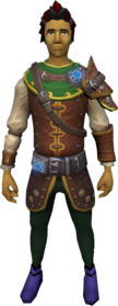 Augmented Elite Robin Hood armour equipped.png: Augmented Elite Robin Hood tunic equipped by a player