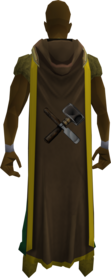 Hooded crafting cape (t) equipped.png: Hooded crafting cape (t) equipped by a player