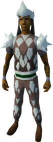 Sacred clay armour (ranged) equipped (male).png: Sacred clay body equipped by a player