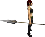 Morrigan's javelin equipped.png: Corrupt Morrigan's javelin equipped by a player