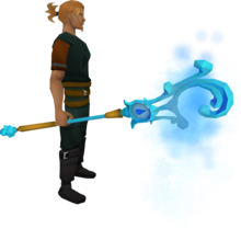 Mystic water staff equipped.png: Mystic water staff equipped by a player