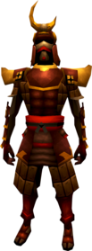 Superior tetsu armour equipped (male).png: Superior tetsu helm equipped by a player