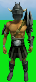 Verac's armour equipped (male).png: Verac's plateskirt equipped by a player
