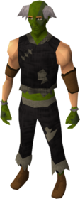 Zombie outfit equipped (male).png: Zombie trousers equipped by a player