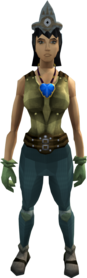 Easy task set equipped (female).png: Varrock armour 1 equipped by a player
