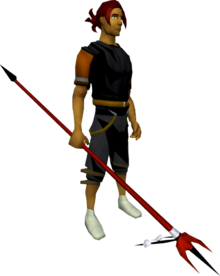 Anger spear equipped.png: Anger spear equipped by a player