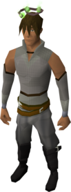 Guthix halo equipped.png: Guthix halo equipped by a player