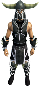 Lucky Guthan's armour equipped (male).png: Lucky Guthan's platebody equipped by a player