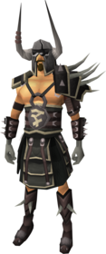Lucky Bandos armour equipped.png: Lucky Bandos helmet equipped by a player