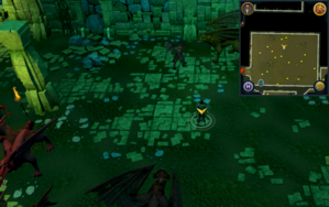 Scan clue Brimhaven Dungeon lower level north side of red dragon chamber.png