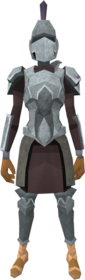 Intricate decorative armour equipped (female).png: Intricate decorative helm equipped by a player