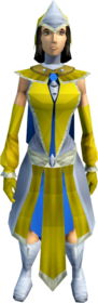 Light mystic robe armour equipped (female).png: Light mystic robe top equipped by a player