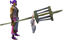 Rat pole (2) equipped.png: Rat pole equipped by a player