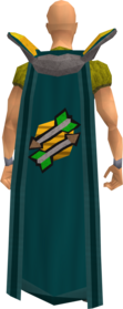 Retro fletching cape equipped.png: Fletching cape equipped by a player