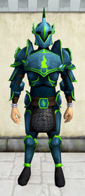 Rune armour (Guthix) (heavy) equipped (male).png: Rune platelegs (Guthix) equipped by a player