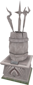 2003 mage arena staff barrel statue.png