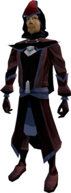 Dark mystic robe armour equipped (male).png: Dark mystic robe top equipped by a player