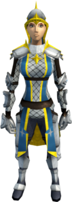 Demon slayer armour equipped (female).png: Demon slayer torso equipped by a player