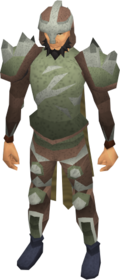 Melee armour (class 3) equipped.png: Platebody (class 3) equipped by a player
