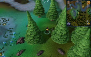 Scan clue Tirannwn south of Elf Camp fishing spot.png