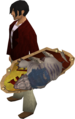 Anti-dragon shield (mole) equipped.png