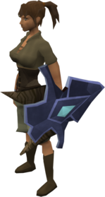Argonite kiteshield equipped.png: Argonite kiteshield equipped by a player
