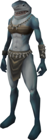 Shark outfit equipped (female).png: Shark hands equipped by a player