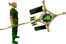 Banner of Sliske (tier 4) equipped.png: Banner of Sliske equipped by a player
