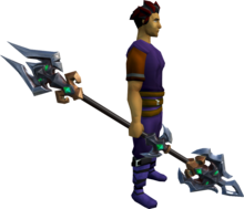 Spear of Annihilation equipped.png: Spear of Annihilation equipped by a player