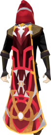 Veteran cape (10 year) equipped.png: Veteran hood (10 year) equipped by a player