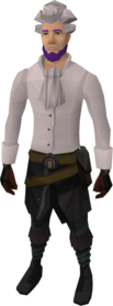 Barrister outfit equipped.png: Barrister wig equipped by a player