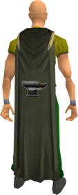 Smithing cape equipped.png: Smithing cape equipped by a player