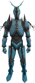 Crystal armour equipped.png: Crystal legs equipped by a player