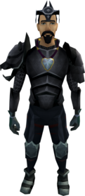 Elite task set equipped (male).png: Karamja gloves 4 equipped by a player