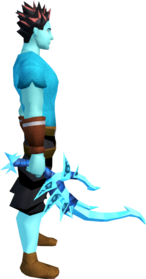 Drygore longsword (ice) equipped.png: Drygore longsword (ice) equipped by a player