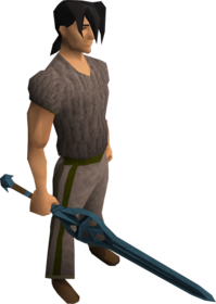 Rune longsword equipped.png: Rune longsword equipped by a player