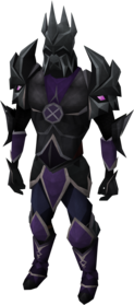 Torva armour equipped (male).png: Torva full helm equipped by a player