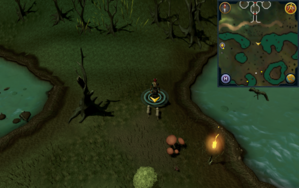Scan clue Haunted Woods south of Fenkenstrain's Castle.png