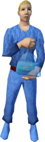 fish in a bag equipped.png: Fish in a bag equipped by a player