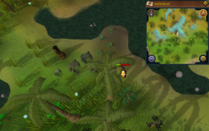 Scan clue Mos Le'Harmless south of group of lakes.png