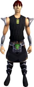 Black plateskirt (h4) equipped (male).png: Black plateskirt (h4) equipped by a player