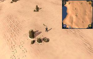 Scan clue Kharidian Desert north of Nardah, close to rocks.png