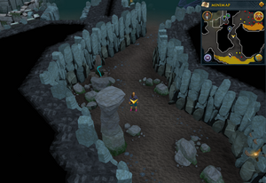 Scan clue Taverley Dungeon passage south of blue dragons.png