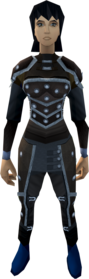 Studded leather armour (t) equipped (female).png: Studded body (t) equipped by a player