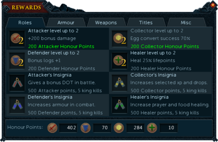 Barbarian Assault rewards interface (Roles).png