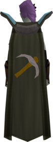 Retro mining cape equipped.png: Mining cape equipped by a player